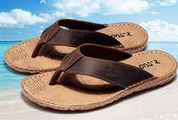Wholesale B Z - Z. Suo men's flip-flops, leisure fashion leather flip-flops,goosegrass sole waterproof sandals.Sandalias DE cuero DE los hombres