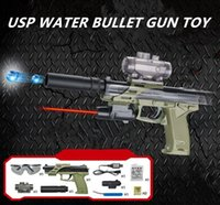 Wholesale Cs Games - 2017 new gun toy for USP electric water bullet gun toy for children and adult cs games weapon