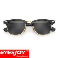 Wholesale High Quality Plank Sunglasses - classic Sunglasses for men Brand Designer Sunglasses High Quality UV400 51mm Unisex Metal Women Sunglasses brands With Original Box