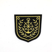 Wholesale Embroidered Anchor Patch - Anchor Helm Sailor Navy Nautical Motif badge Iron on Embroidered patch Gift shirt bag trousers coat Vest Individuality