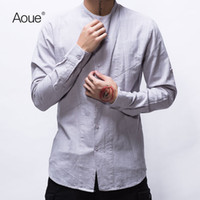 705ef0bfe287 34% Off. CAD  22.53. New style linen shirt men casual white shirts men long  sleeve ...