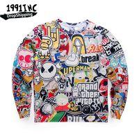 Wholesale Animal Crewneck Sweatshirt - Wholesale-1991INC,Autumn Winter Game Gta Vice City Hoodie Crewneck Fleece Warm 3D Sweatshirts Men Women Harajuku Sweatshirt Tops