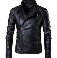 Wholesale Cheap Pu Jackets - Brand New Arrival High Quality 5XL Mens Leather Aviator Jacket Name Brand Winter Style England Style Winter Mens Leather Jackets China Cheap