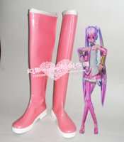Wholesale Vocaloid Shoes - Wholesale-VOCALOID Hatsune Sakura pink long boots cosplay shoes boots shoe boot #HY080 Halloween