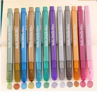Wholesale Acrylic Paint Art Supplies - 12Pcs Colorful Waterproof Metallic Acrylic Paint Art Marker Pen Sketch Stationery School Supplies