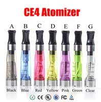 Wholesale E Vapor Wicks - CE4 Clearomizer eGo Atomizer 1.6ml 2.4ohm vapor tank Electronic Cigarette for e-cig battery 8 colors 4 wick CE4+ CE5 blister kit