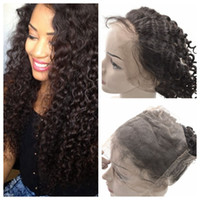 Wholesale peruvian hairpiece resale online - 360 Frontal Peruvian Virgin Hair Deep Wave Lace Band Frontal Hairpieces inch Human Hair G EASY