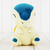 Wholesale Pokemon Plush Cyndaquil - 18cm Anime Poke Cyndaquil Plush Toy Soft Stuffed Doll with Sucker for Children kids Christmas gift high quality free shipping EMS
