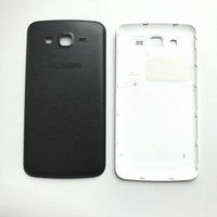 ingrosso copertine posteriori per la grand galassia di samsung-Nuovo alloggiamento medio chassis coperchio del vano batteria posteriore per Samsung Galaxy Grand 2 G7102 nero / bianco