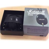 Wholesale Microphone Monitor - Marshall Monitor Headset With Mic Deep Bass DJ Hi-Fi Headphones Earphones Professional DJ Monitor Headphones Free Shipping