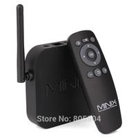 Wholesale Sd Card Xbmc - Wholesale-MINIX NEO X7 Mini RK3188 Quad Core 1.6GHz Android TV Box 2G 8G WiFi HDMI USB RJ45 SD Card Optical XBMC Smart TV Receiver Mini PC