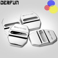 Wholesale Stainless Steel Doors - 4 Pcs Car Door Lock Cover AMG Sticker Protection Stainless Steel Decoration Quality Case Protect No Rust For Mercedes Benz