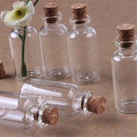 Wholesale Wholesale Tiny Glass Bottle Vials - Free Shipping Lot 20 Pcs 16x50mm Tiny Small Clear Cork Glass Bottles Vials 5.0ml For Wedding Holiday Decoration Christmas Gifts