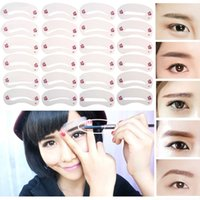 Wholesale Making Stencils - 72Pcs Mixed Different Styles Eyebrow Stencils Eyebrow Drawing Guide Card Models Template DIY Beauty Shape Make Up Tools