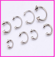 Wholesale body jewelry spike - OP-Basic Body Jewelry Mixed Sizes Steel Spike Horseshoe Circular Barbell Lip Rings Anti allergy type U Horseshoe Ring Ring Ring eyebrow lip