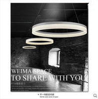 10 ~ 15sq.m black and white restaurants - LED Contemporary And Contracted Creative Acrylic The Study Bedroom Restaurant Dining Room Lamps And Lanterns Is Circular Pendant Lamps