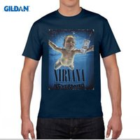 T-shirt Nirvana Nevermind T Shirt Rock Band Uomo Donna Maglietta T-Shirt Kurt Cobain Vintage Tshirt Felpe Top