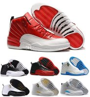 Wholesale Future Game - 2016 air retro 12 ovo white gym red flu game GS Barons the master taxi wolf grey playoff University blue XII Basketball shoes