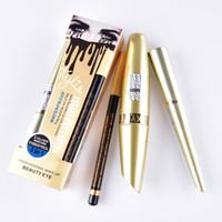 Wholesale Eyebrow False - New Kylie Waterproof Mascara Eyeliner Eyebrow Pencil 3in1 False Lash Effect Kylie Jenner beauty eye cosmetics DHL Shipping MR445