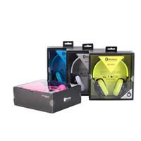 Wholesale Stylish Earphones For Iphone - Wireless Bluetooth 4.0 Stylish LED Light Fashion Headphone Sports Sound Card Earphone HiFi Portable Headset
