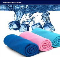 Wholesale Hands Free Baby - High Quality Cold Towel Summer Sports Ice Cooling Towel Double Color Hypothermia cool Towel 30*90cm for sports children Adult free shipping