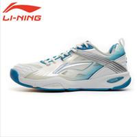 Wholesale Thick Platform Sneakers - Wholesale-LiNing Original Brand Men Badminton Breathable Thick Soled Tennis Shoes Male Wear-Resistant Plus Size Platform Sneakers AYAF007
