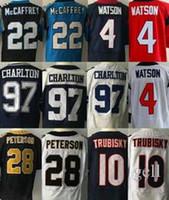 Wholesale Elite Jersey 28 - 2017 NEW #22 Christian McCaffrey #33 Dalvin Cook #4 Deshaun Watson #97 Taco Charlton #10 Mitchell Trubisky 28 Adrian Peterson elite Jersey
