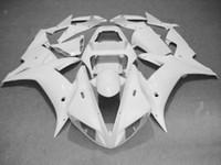 yzf r1 personalizado venda por atacado-Kit de Carenagem de Motocicleta CUSTOM para YZFR1 02 03 YZF R1 2002 2003 yzfr1 YZF1000 Carenagem ABS branca completa