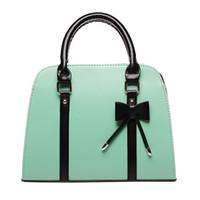 Wholesale Color Block Handbags Wholesales - Wholesale- High Products Candy color block handbag shaping one shoulder cross-body white women's handbag women's bags
