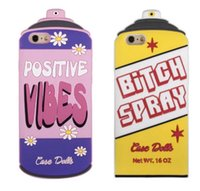 spray silicon - fashion INS Cup Glass Silicon Gel D Positive VIBES Bitch Spray case cover skin for iPhone S iPhone Plus