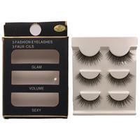 Wholesale natural hair beauty - New 3 pairs natural false eyelashes fake lashes long makeup 3d mink lashes extension eyelash mink eyelashes for beauty