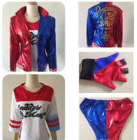 Wholesale Sexy Cheap Cosplay Costumes - 2016 New Luxury Harley Quinn Costumes Embroidery Cosplay Suicide Squad Plus Size cheap Ugly Woman Clothing Hot Selling