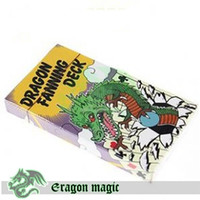 Atacado-Dragon Fanning Deck (4 cores) FREE SHIPPING-Eragon Card Magic Tricks magia magie brinquedos de varejo e atacado