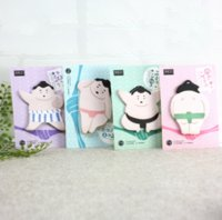Wholesale Memo Note Pads - Wholesale- 4 Pcs Cute Japanese Sumo Style Memo Pad Sticky Notes Memo Notepad School Office Supply Escolar Papelaria Gift Stationery