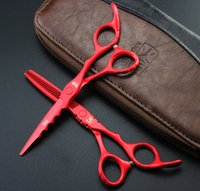 Wholesale Barbering Shears - Wholesale-5.5 inch kasho professional hair scissors hairdressing barber equipment tijeras hair cutting scissors shears salon de coiffure