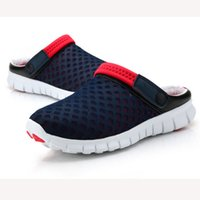 Wholesale Trend Shoes Wholesale - Wholesale- New 2016 Men Slippers Shoes Fashion Breathable Hollow Out Sandals Flip Flops Leather Trend Of The Drag BZ850370