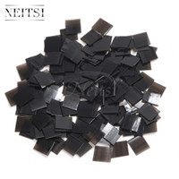Wholesale Keratin Glue Extensions - Neitsi High quality Keratin glue Keratin Fusion Flat Shaped Fusion Chips Glue Nail Tip Keratin Nail Tip for hair extension 500pcs lot