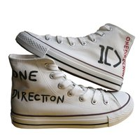 Wholesale Items One Direction - New Arrival One Direction Hand Painted Canvas Shoes,Outdoor Leisure Fashion Sneakers,Unisex Casual Shoes Hot Items