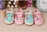 Compra Storia Del Coniglio-Baby cartoon rabbit Scarpe per bambini Ragazze First Walkers soft bottom kids bow wear AS503-26 ELEVEN STORY