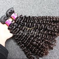 Wholesale 24inch Human Hair Weave - 8A Top Quality Natural Black Peruvian Hair Extensions 4pcs lot Curly Hair Weaves 10-24inch Human Hair Weft