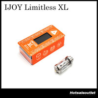 Wholesale E C4 - Authentic IJOY Limitless XL Sub Ohm Tank & RTA with 4ML e-Juice Capacity & XL-C4 Light-up Chip Coil 100% Original