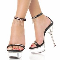 Stylish Crystal 15CM Sexy Super High Heel Platforms Pole Dance / Performance / Star / Model Shoes, Wedding Shoes
