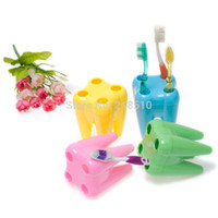 Wholesale Tooth Shaped Toothbrush Holder - Teeth Shaped Toothbrush Holder (7*7*9.5cm Random Color) order<$18no track