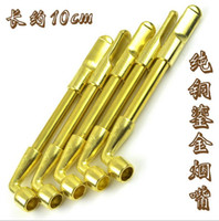 Wholesale Lighting Stem - Wholesale brass pipe Dry pipe tobacco stems 11 centimeters long copper pipe