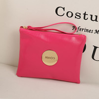 Wholesale luxury pouch bags wallet purse online - Fashion famous Brand Mimco Women lady clutch bag Purse Wallet Large Capacity Makeup Cosmetic Bags Ladies Luxury Shopping Evening Pouch