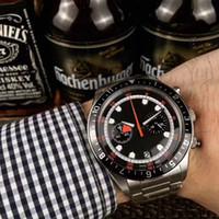 ingrosso cintura degli uomini cina-Cina di alta qualità di lusso giapponese VK orologi al quarzo master per uomini Cintura in acciaio inox Sport VK cronografo orologio da uomo