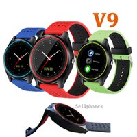 Wholesale I Devices - Wearable Devices V9 V8 A1 DZ09 Bluetooth Smart Watch For Android i Phone Support SMI Card Sports Wristwatch Gift Smartwatch Newest