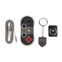 volle pc-spiele großhandel-Portable Wireless Bluetooth Classic 8Bitdo NES30 Pro Game Controller Volle Tasten für iOS Android Gamepad PC Mac Linux NEU