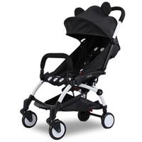 carrinho de passeio inflável venda por atacado-Atacado-novo carrinho de bebê dobrável, 0-36 meses de idade carrinho de rodas De Borracha Natural Inflável Quatro Rodas