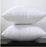 Wholesale Cotton Filling Pillow - 2016 Square White Peached Fabric Cushion Insert Decorative Pillows filling 450g